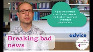 Image for vimeo videos on How to break bad news in healthcare consultations
