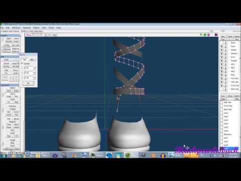 Making Ambers Clothes in Metasequoia Part 4 Shoes 1