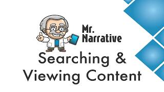 What is Mr. Narrative #4 - Searching and Viewing Content