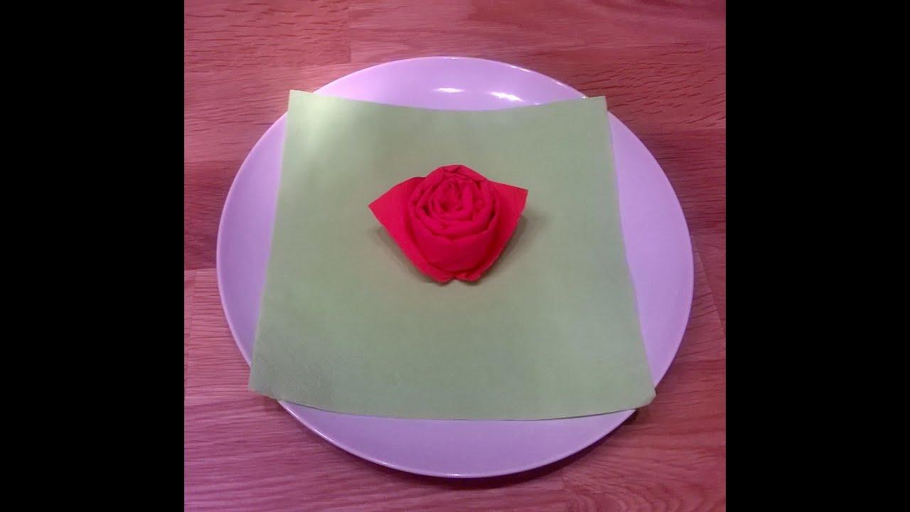 Piegare Tovaglioli A Rosa.Come Piegare Il Tovagliolo A Forma Di Rosa Bocolo