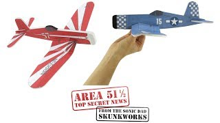Make a Foamboard Fighter, F4U Corsair - Area 51 1/2 Sneak Preview: SonicDad Project #57