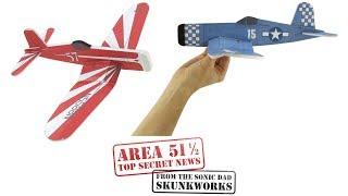 Make a Foamboard Fighter, F4U Corsair - Area 51 1/2 Sneak Preview: SonicDad Project #57