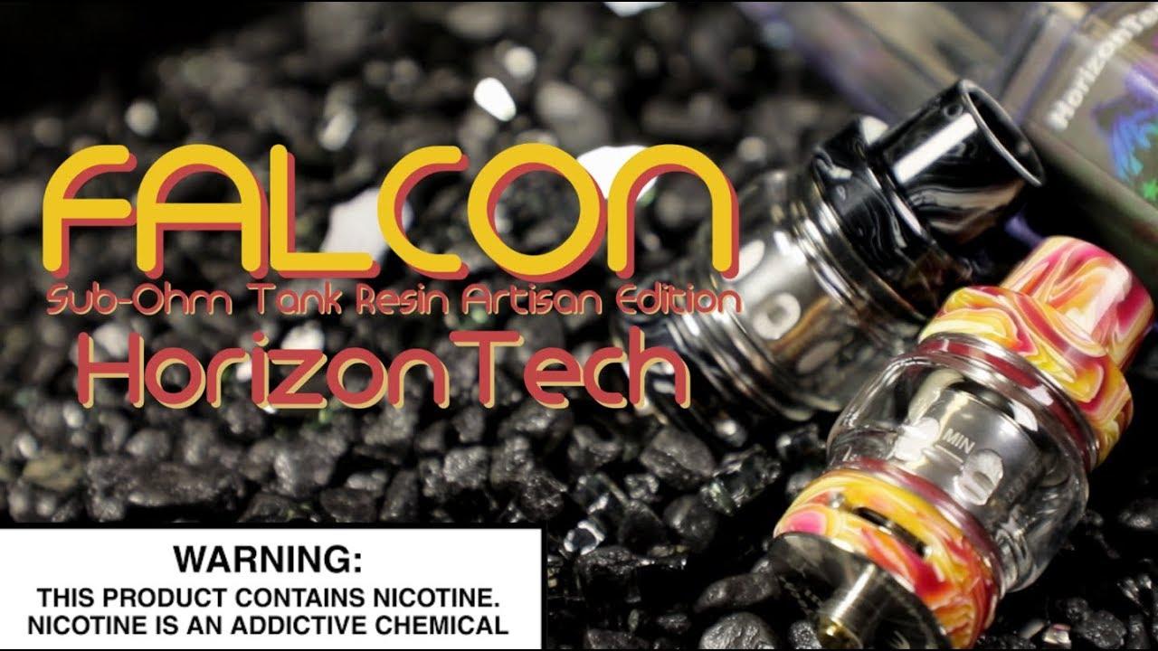 FALCON Subohm Tank RESIN EDITION By Horizontech ~Subohm Vape Tank Review