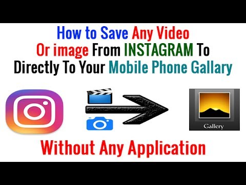 How do i save photos and videos from instagram