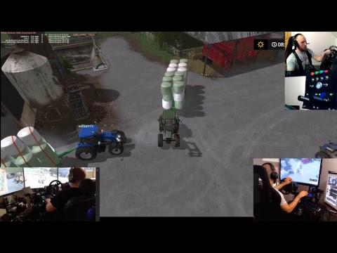 farming simulator 17 lets play/fun night with dad thornton  map