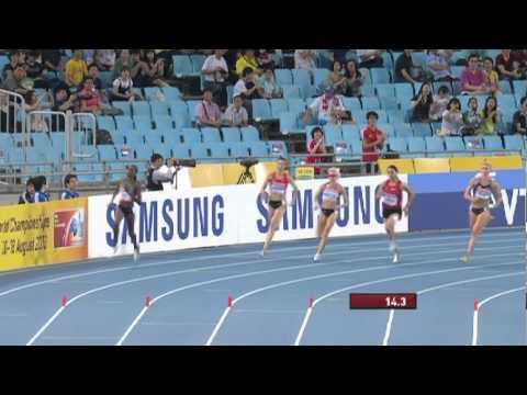 Women's 800m Semi Final featuring Jenny Meadows (GB)