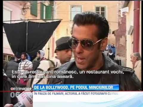 Salman Khan, regele filmelor indiene, asaltat de fanele românce