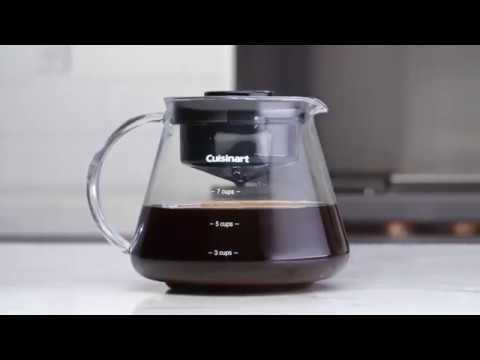 Cuisinart DCB-10 Automatic Cold Brew Coffeemaker, 7-cup Glass Carafe With Removable Filter Lid