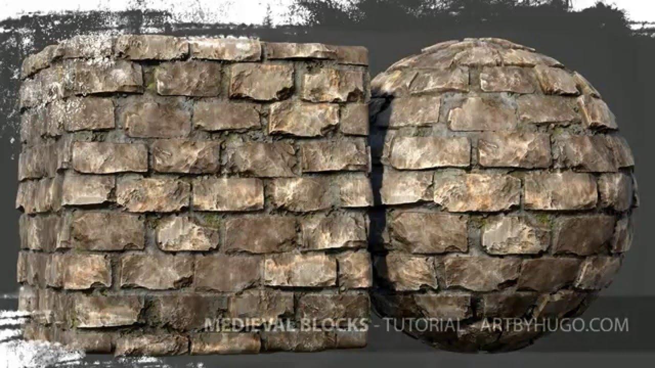 Tutorial Teaser Substance Designer Medieval Blocks