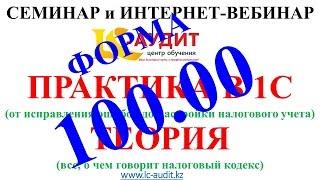 Годовая налоговая отчетность по форме 100.00. Практика в 1С + теория(, 2015-01-10T15:44:24.000Z)