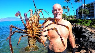 Catch n' Cook GIANT Lobster in Hawaii | Ace Videos