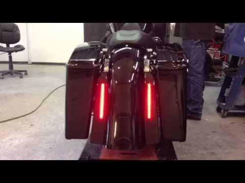 Harley Street Bagger Led Light Set Up Bagsand Fender Youtube
