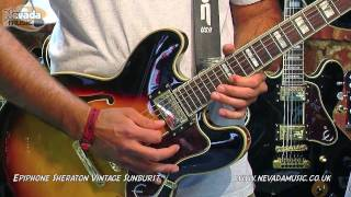 Epiphone Sheraton Vintage Sunburst demo - Nevada Music UK