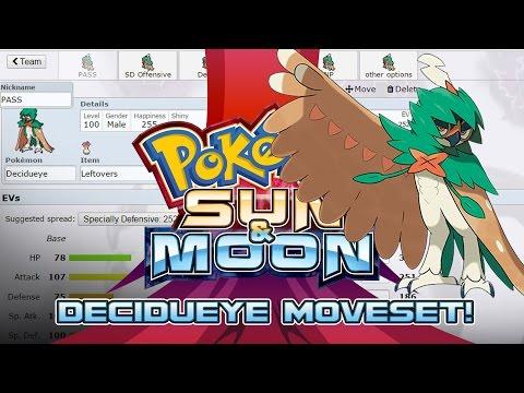 Decidueye Moveset Guide! How to use Decidueye! Pokemon Sun and Moon! w/ PokeaimMD!