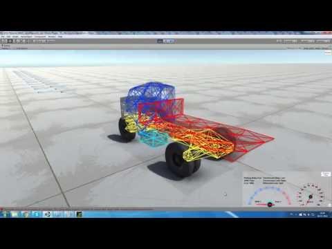 Unity Realistic Vehicle Physics - Vehicle Debugger System Test 1