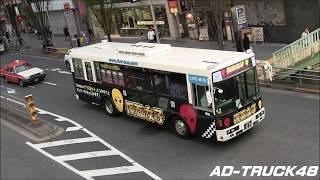 渋谷を走行する、仮面女子 貸切ライブバス 2号車発進! 5月1日ワンマン...