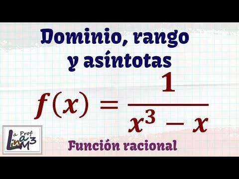 Dominio, rango y asíntotas de una función racional | La Prof Lina M3