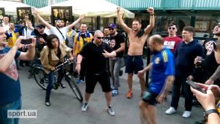 Болельщики сборной Украины в Хорватии