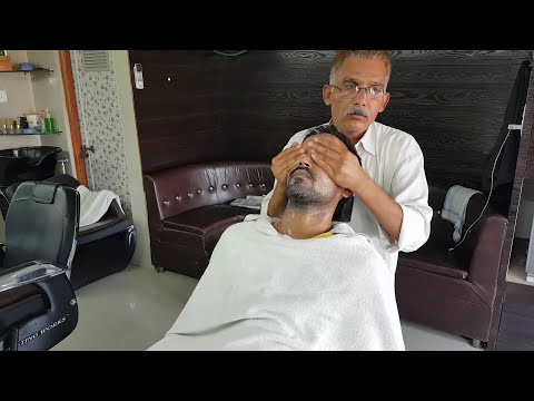 Complete head massage with ear cleaning