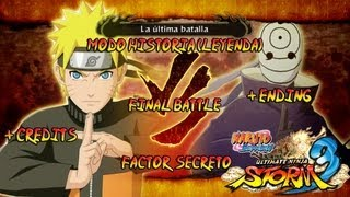 Naruto Shippuden: Ultimate Ninja Storm 3 Walkthrough + Full Burst - Parte 34 |Batalla Final Naruto vs Tobi + Ending Creditos Gameplay Español/Japanese Xbox360/PS3