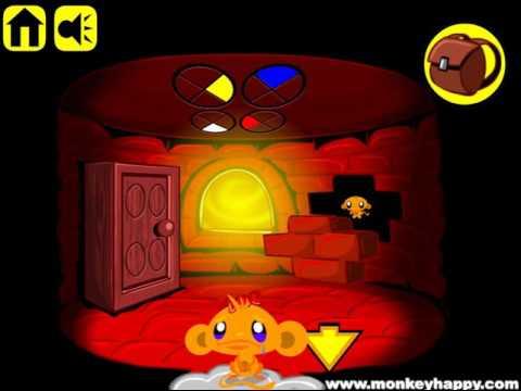 Мультик игра Счастливая обезьянка: Уровень 28 (Monkey Go Happly Stage 28)