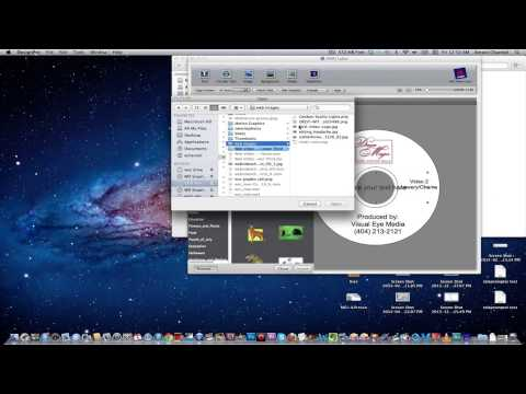 How to make a DVD label (Avery)