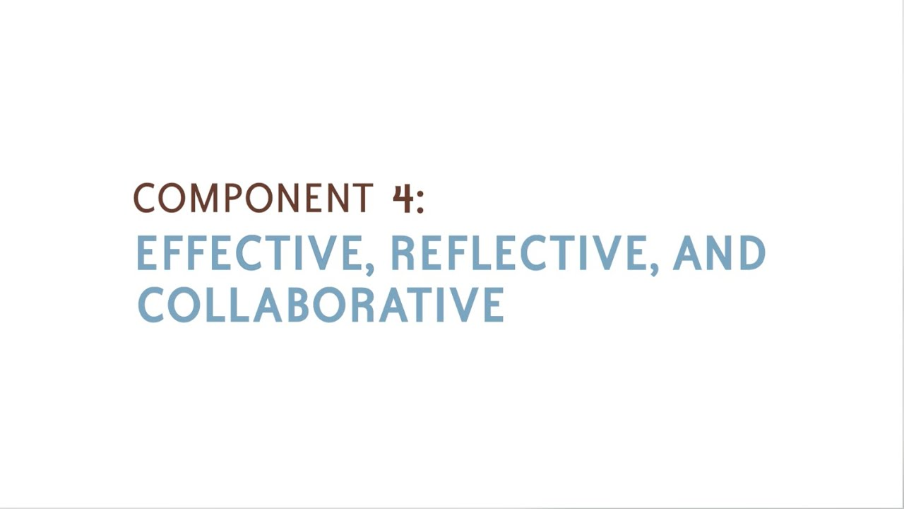 Component 4 Effective Reflective And Collaborative Youtube