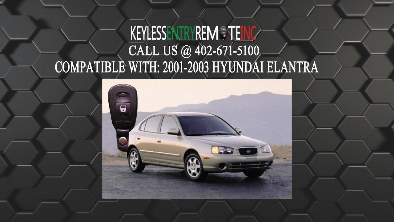 How To Replace Hyundai Elantra Key Fob Battery 2001 2002 2003