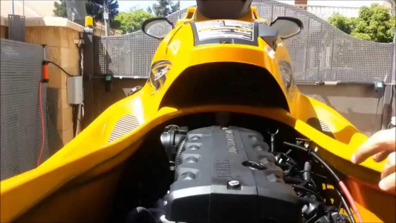 Ngk Spark Plugs >> Change spark plugs on 2013 Yamaha VXR 1800 - YouTube