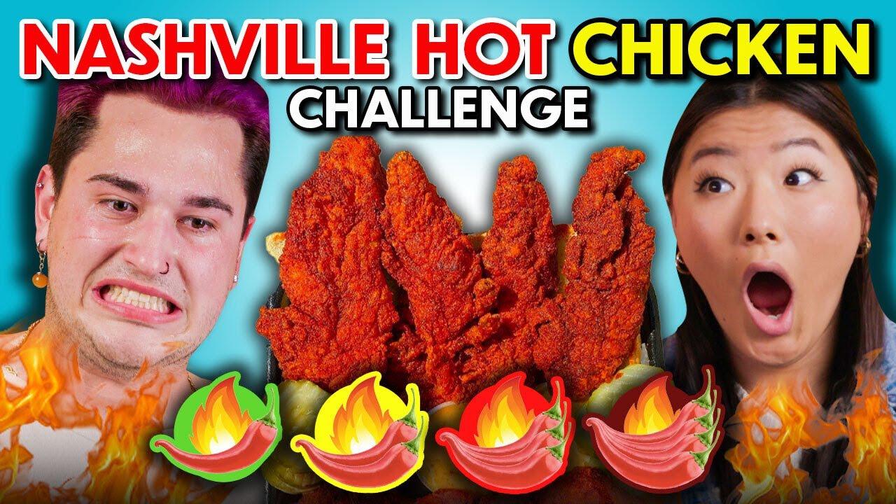 ADULTS vs. FOOD - NASHVILLE HOT CHICKEN CHALLENGE