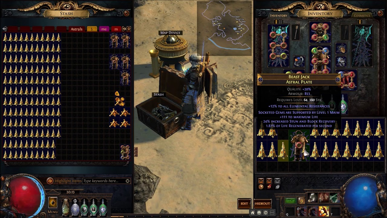 Fossil Crafting Elder Astral Plates