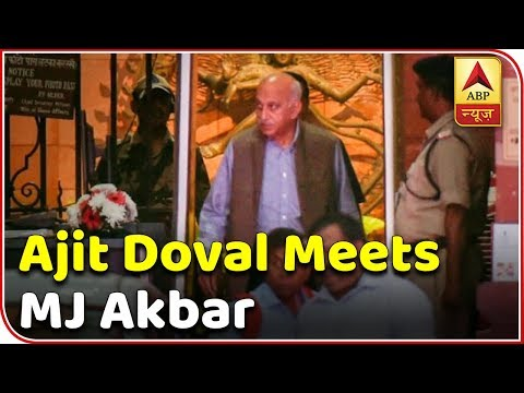 Ajit Doval Meets MJ Akbar At Latter's Residence | ABP News