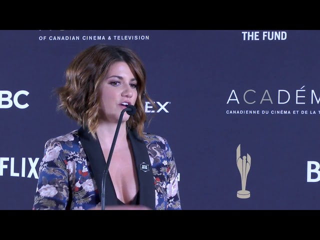 """Stars of """"Kim's Convenience"""" and """"Carmilla"""" discussed diversity and representation at the Canadian Screen Awards on Sunday. """"Carmilla"""" star Elise Bauman says representation is important for viewers of her LGBTQ vampire web series. (The Canadian Press)"""