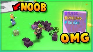 Noob Girl With 1 Rainbow Core Shock And Cyborg Dominus Op Unlocked Areas In Pet Simulator
