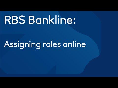Assigning roles online: Royal Bank of Scotland Bankline