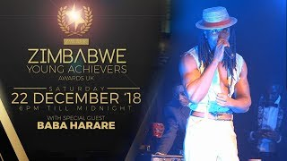 Baba Harare Shuts It Down at the Zimbabwe Young Achievers Awards UK 2018