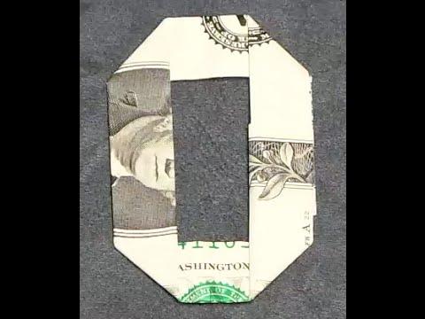 Fold Origami Dollar Bill Alphabet Letter O Youtube