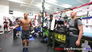 RealDevinHaneyTV Episode 15 , Devin Haney trains with Floyd Mayweather Jr and Showtime Boxing