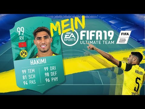 """My FUT"" | Achraf Hakimi names his FIFA 19 Ultimate Team"