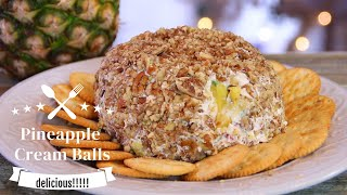 Easy Breezy Pineapple Cream Cheese Ball