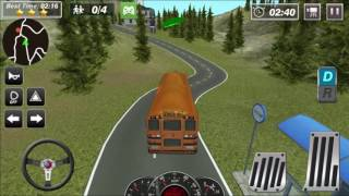 School Bus Driver Coach 2 - Control A High School Bus - iOS / Android Gameplay