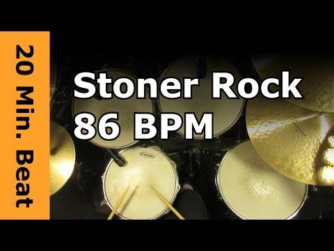 20 Min Beat - Stoner Rock 86 BPM Version 2 - Crash Ride with Fill