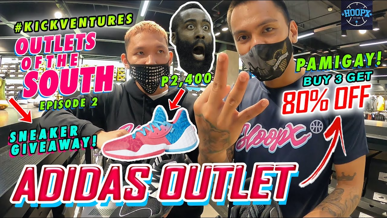 ADIDAS OUTLET PASEO DE STA. ROSA LAGUNA | 80% OFF ANG HARDEN VOL. 4 (Outlets of the South EP. 2)