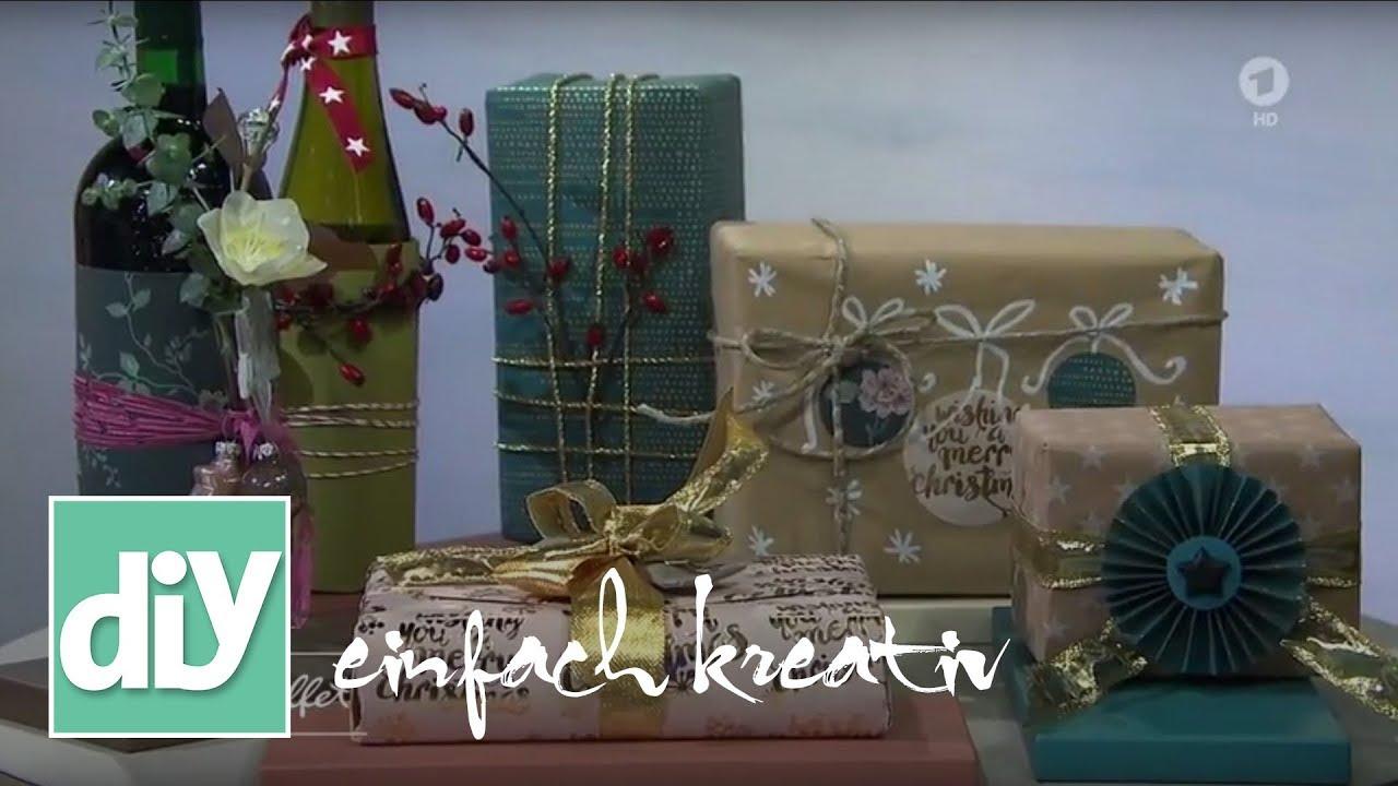 geschenke verpacken diy einfach kreativ youtube. Black Bedroom Furniture Sets. Home Design Ideas