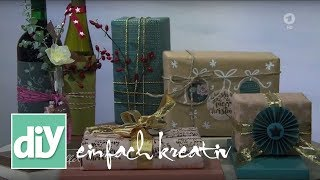 Geschenke verpacken | DIY einfach kreativ