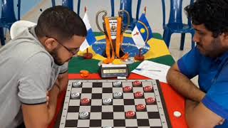 Final da Taça Brasil - Vinícius x Mirandinha - Jogo de Damas - Partida 1