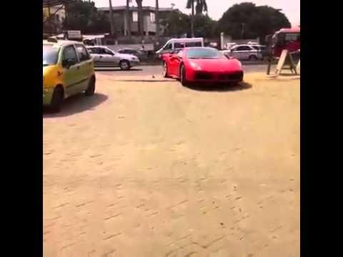 Dr Kwame Osei Despite Ferrari in Accra GH