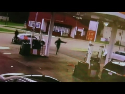 Security camera captures video of deadly shooting at River Rouge gas station