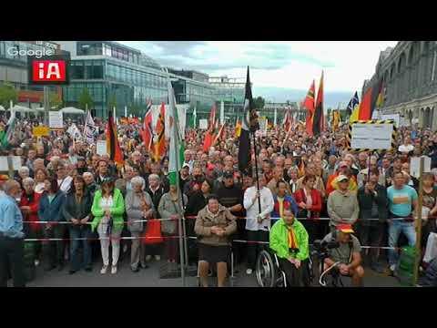 pegida Dresden 11.09.2017 vom Hauptbahnhof