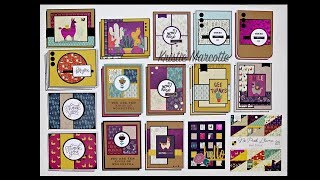 DCWV No Prob Llama - 33 cards from one 6x6 paper pad
